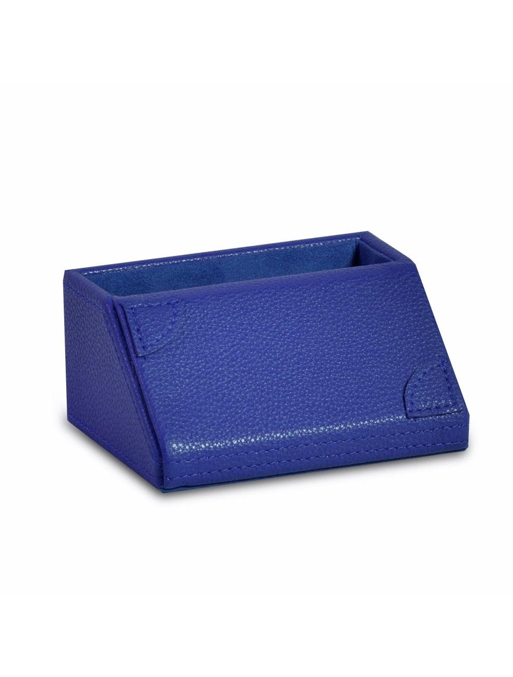 New Desk Business Card Holder - Ocean  Blue