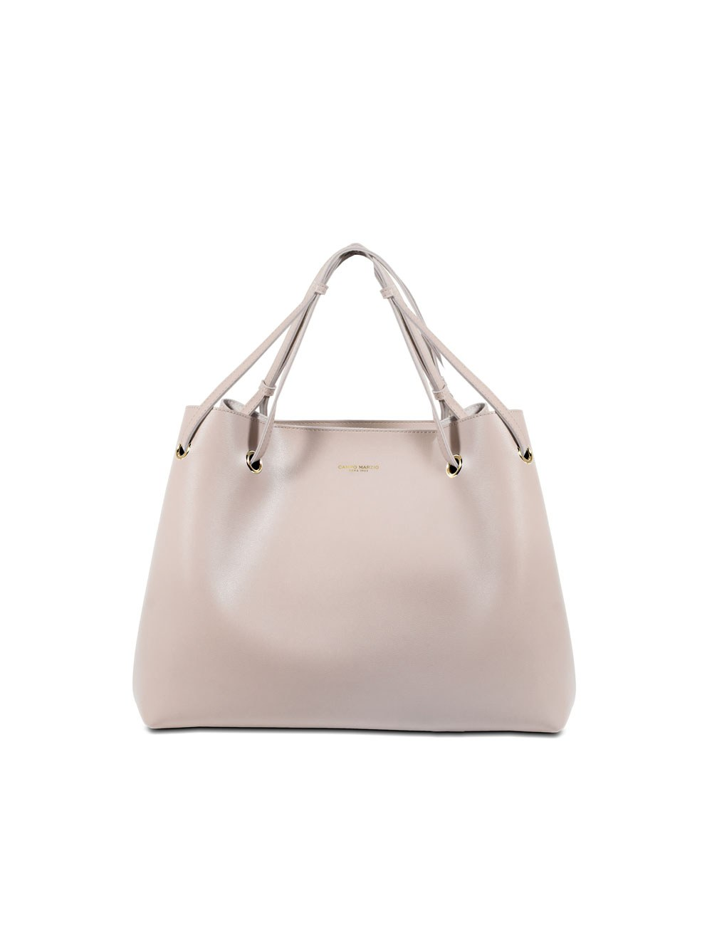 Shoulder Bag With Inner Bag - Cream