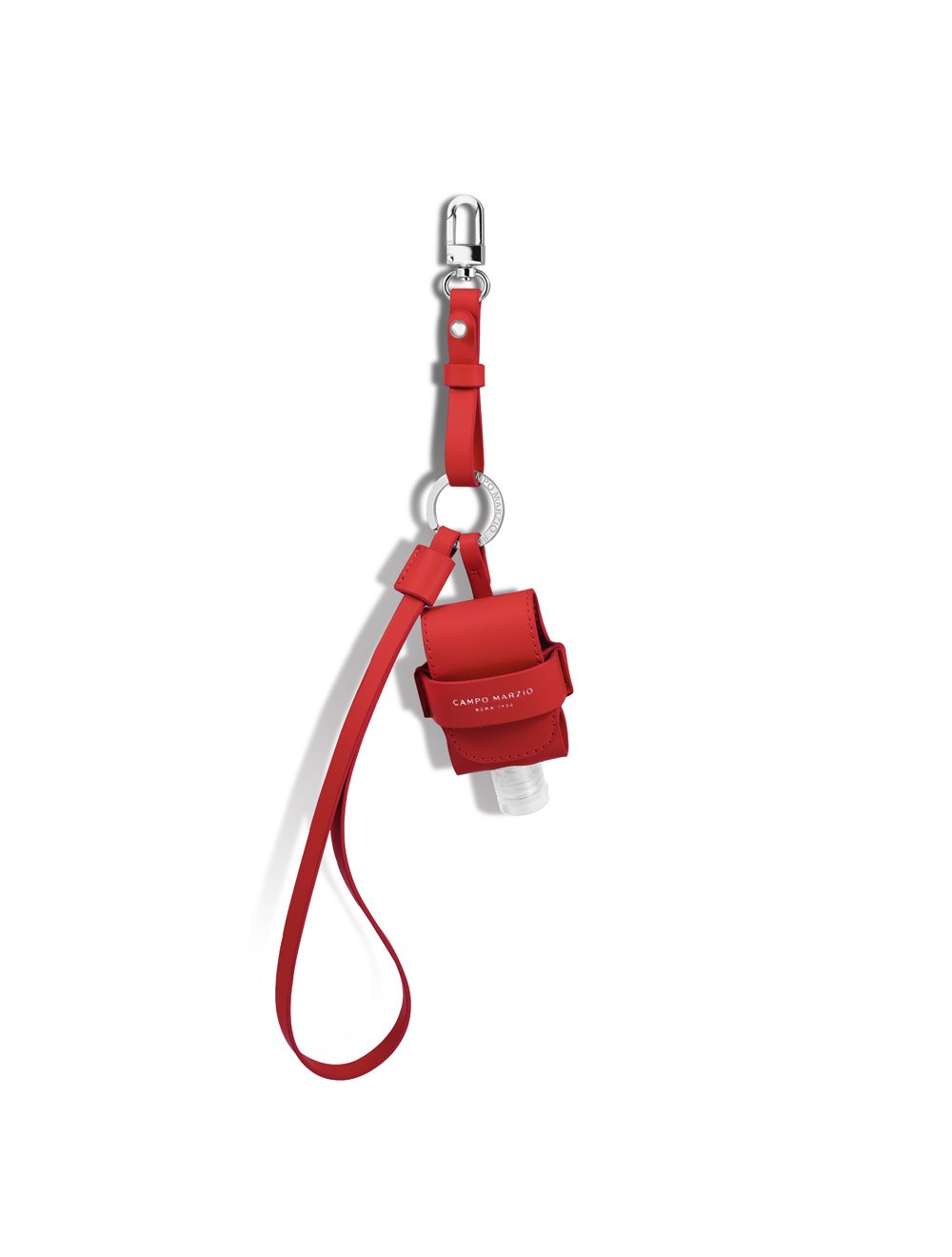 Keychain with Mini Pouch Dispenser - Cherry Red