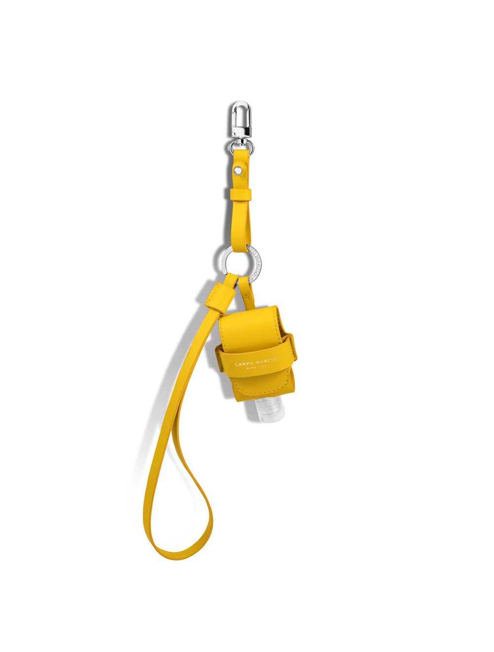 Keychain with Mini Pouch Dispenser - Canary Yellow