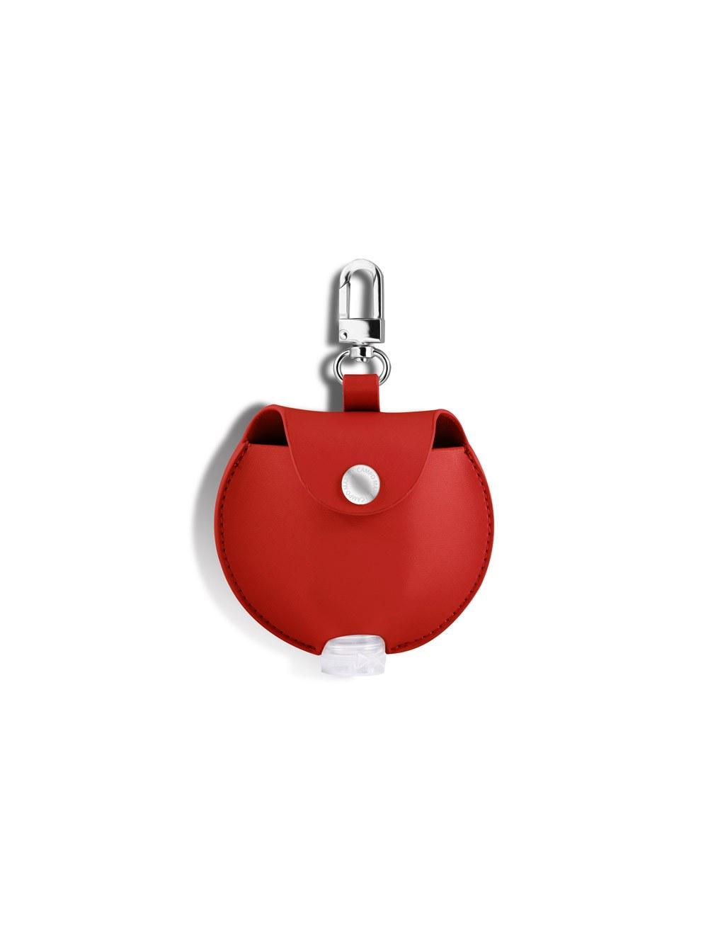 Mini Round Pouch Dispenser - Cherry Red