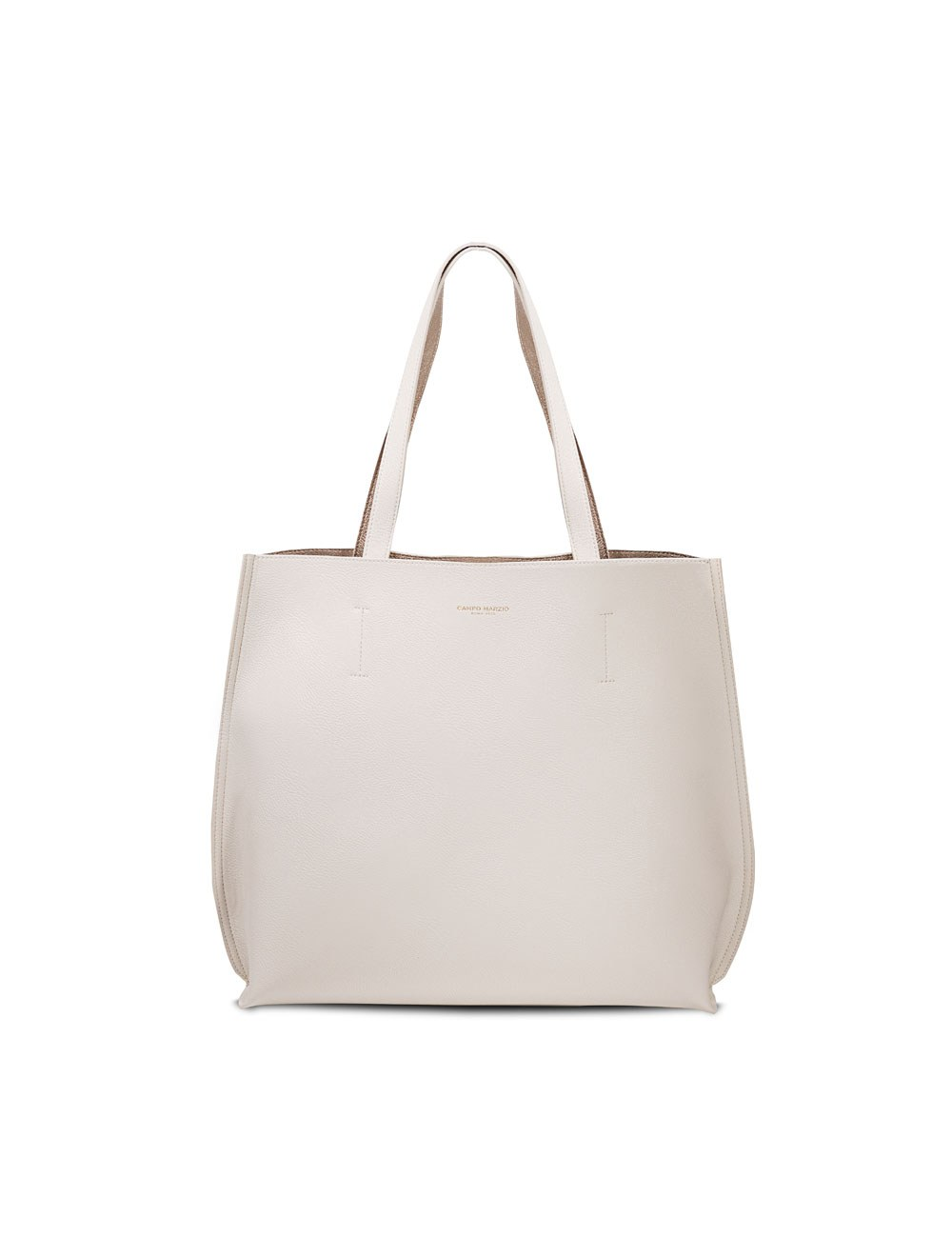 Double Tote Bag Midi - Off White