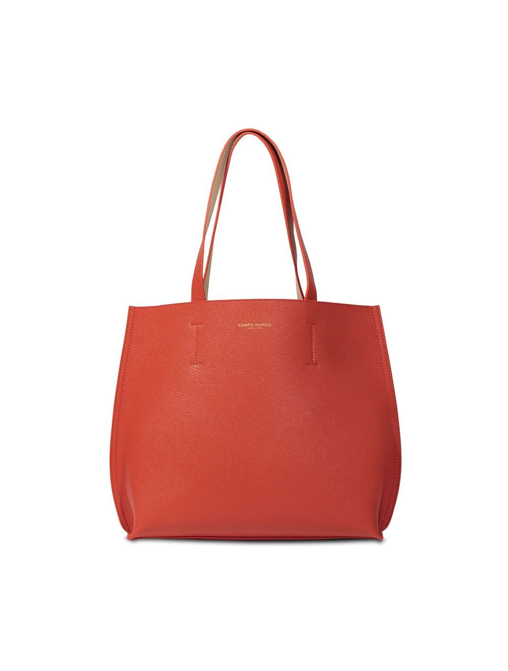 Double Tote Bag Midi - Tangerine Tango
