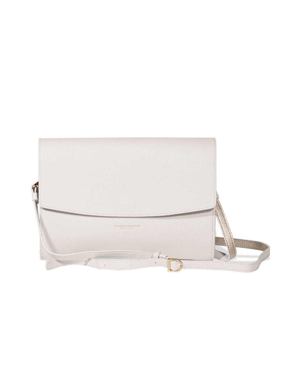 Clutch With Crossbody Strap - Off White