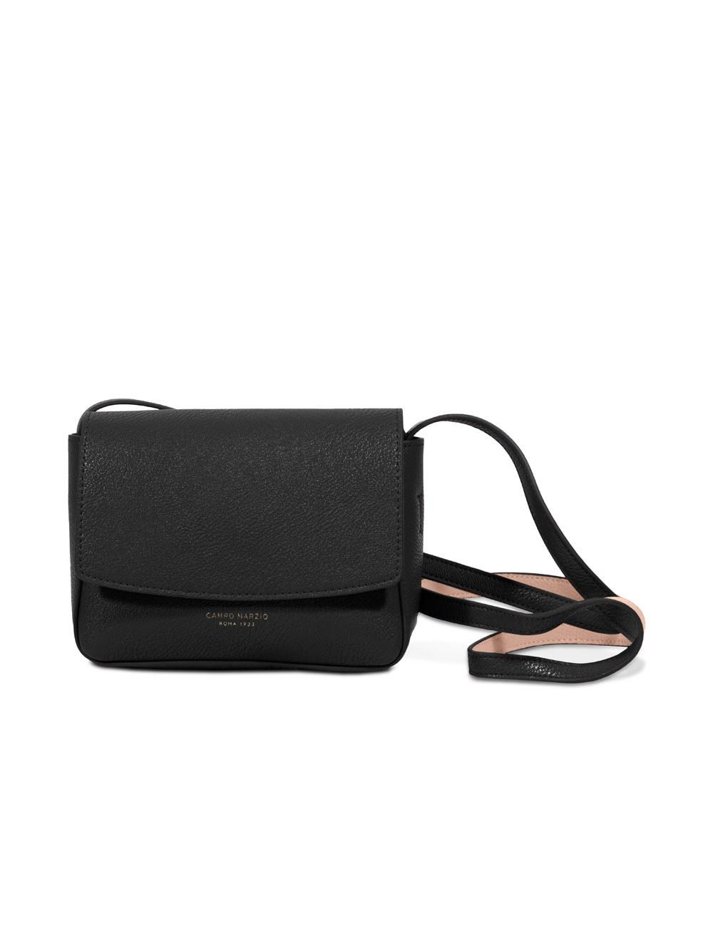 Mini Bag with Crossbody Strap - Black