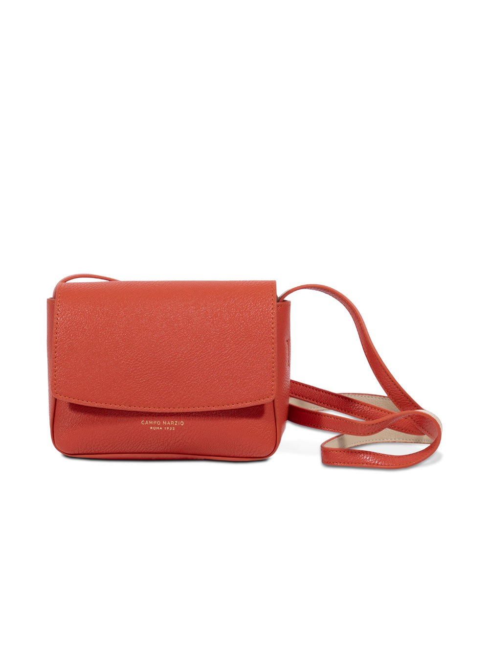 Mini Bag with Crossbody Strap - Tangerine Tango