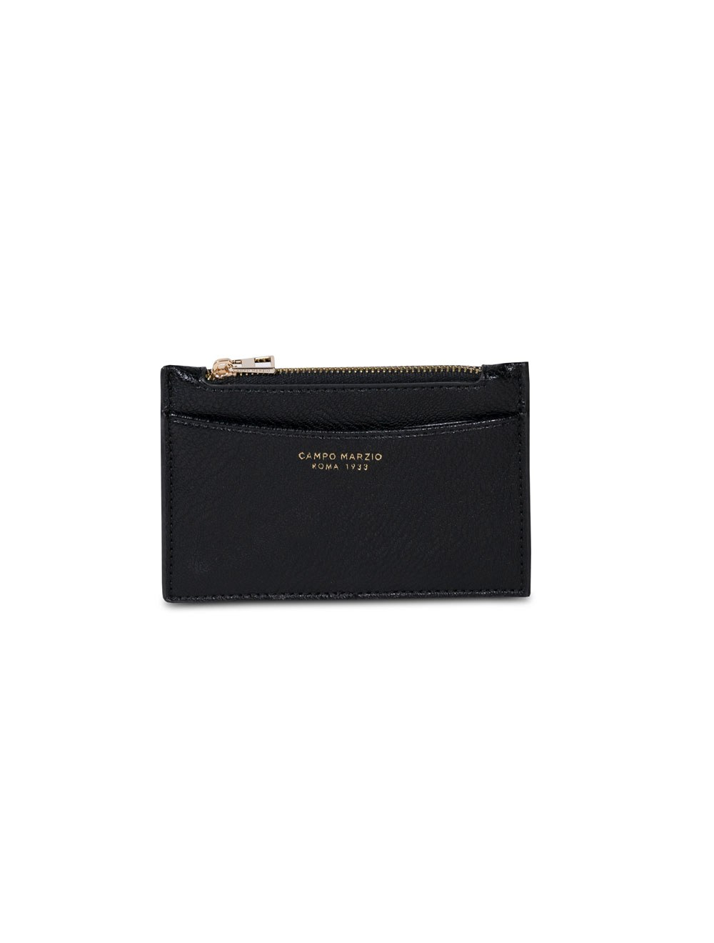 Card Holder With Zip - Black