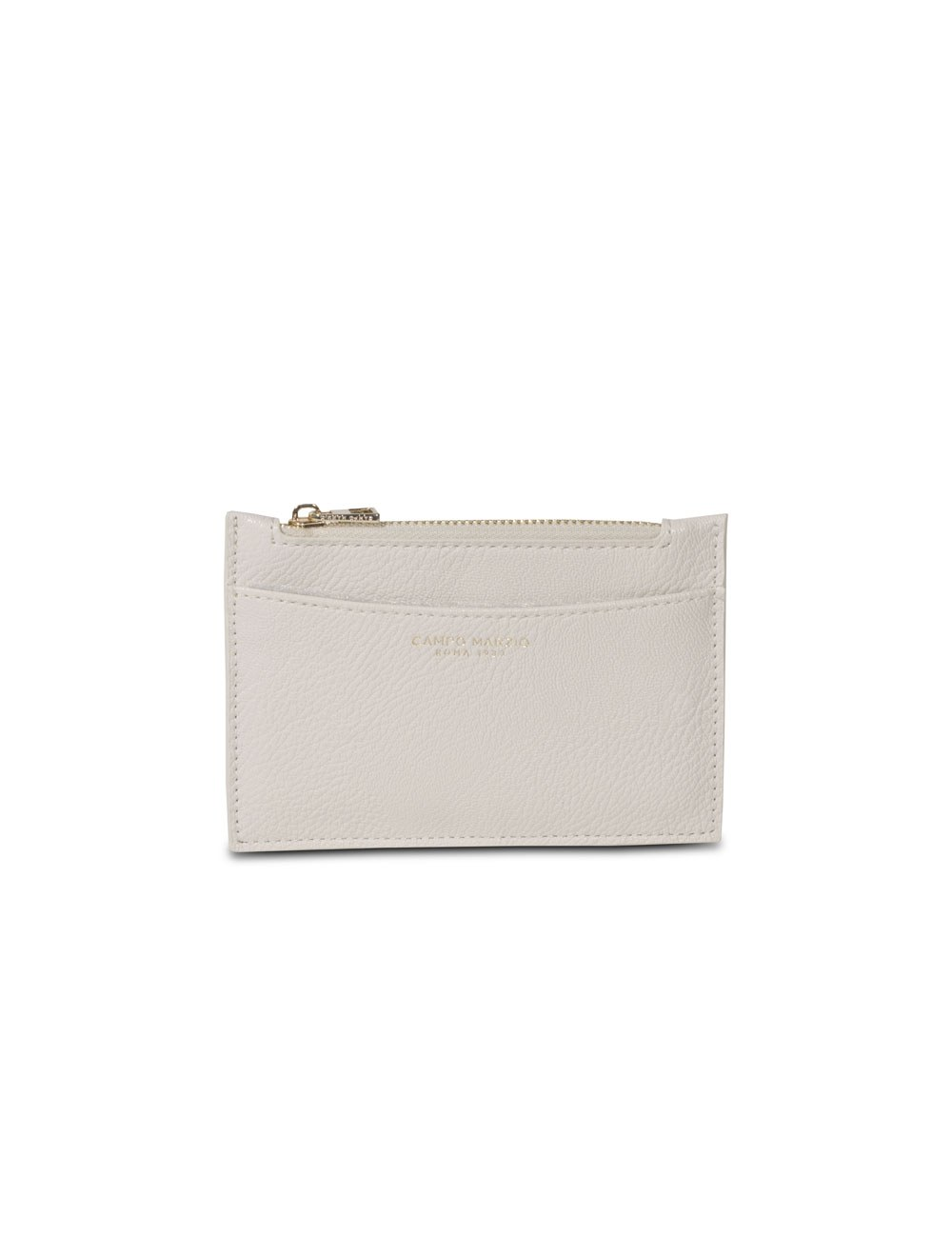Card Holder With Zip - Off White