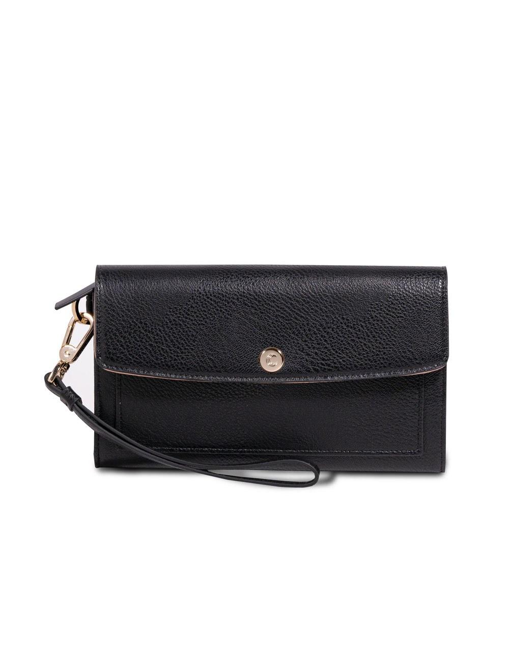 Wallet With Wristlet - Black
