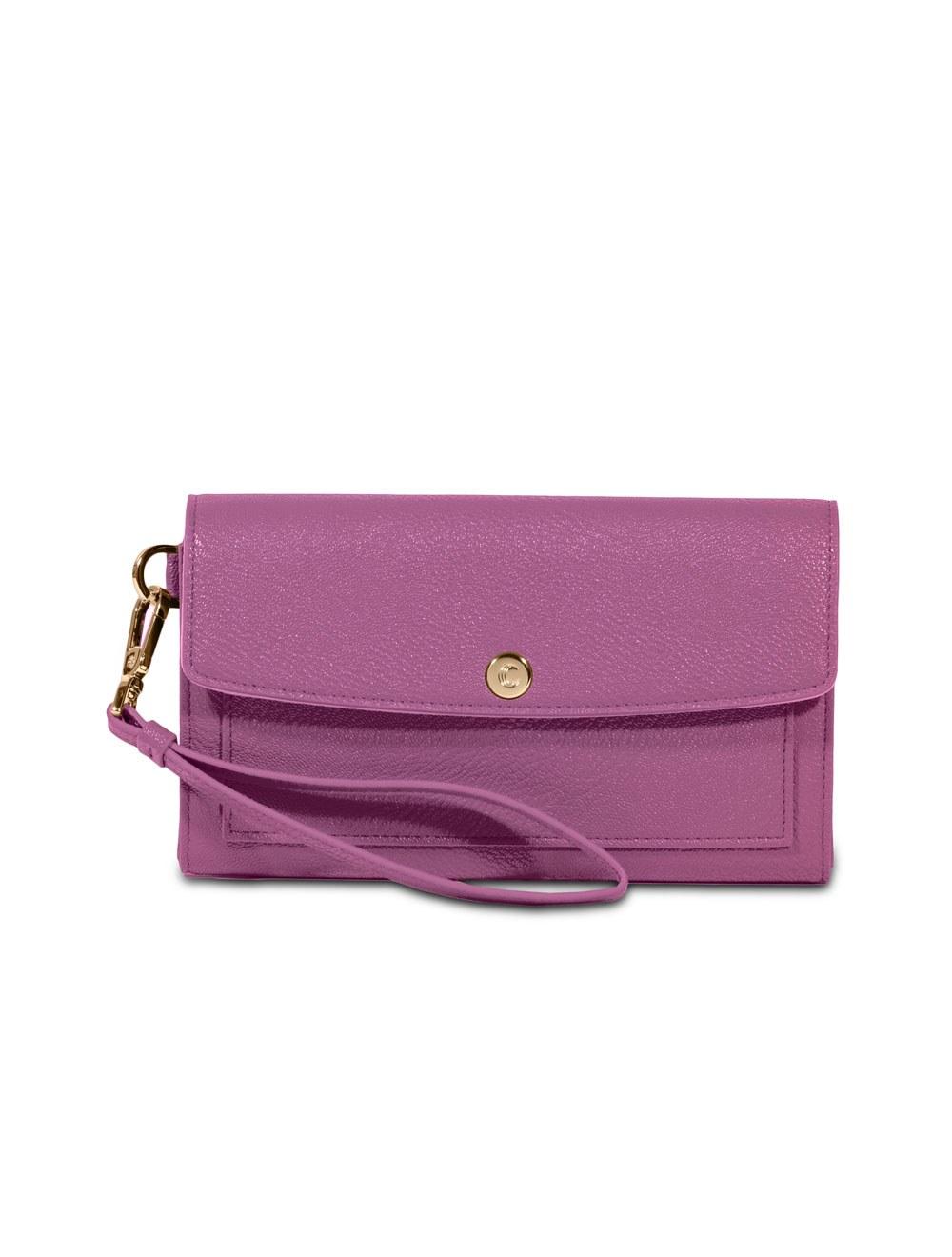 Wallet with wristlet - Mauve