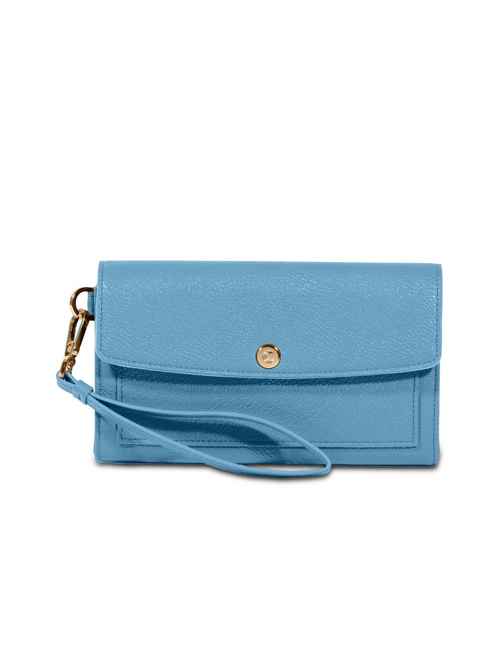 Wallet with wristlet - Turquoise Blue