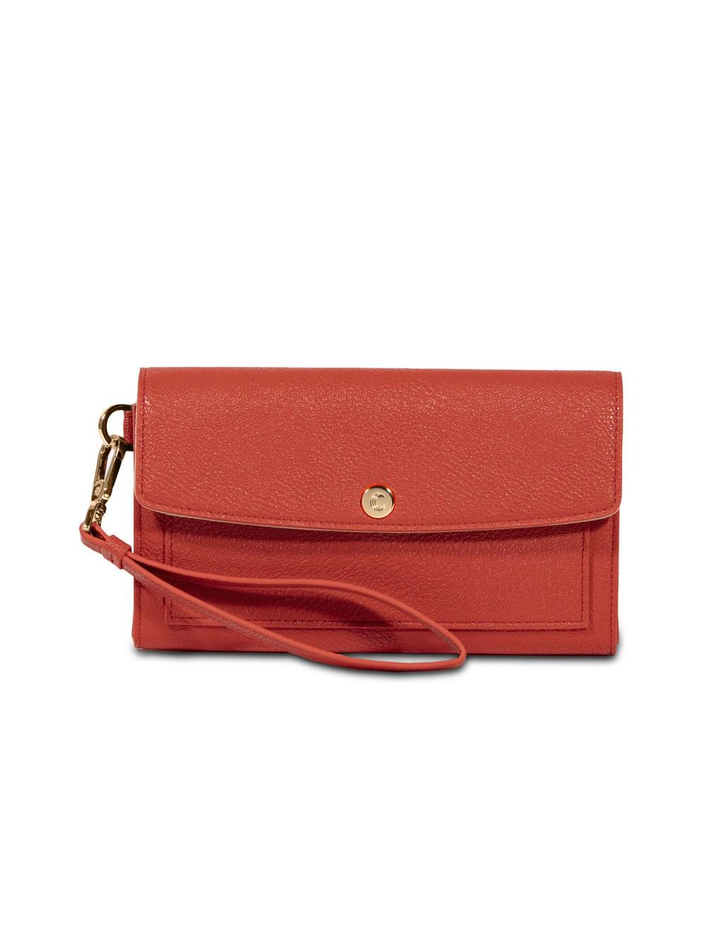 Wallet With Wristlet - Tangerine Tango