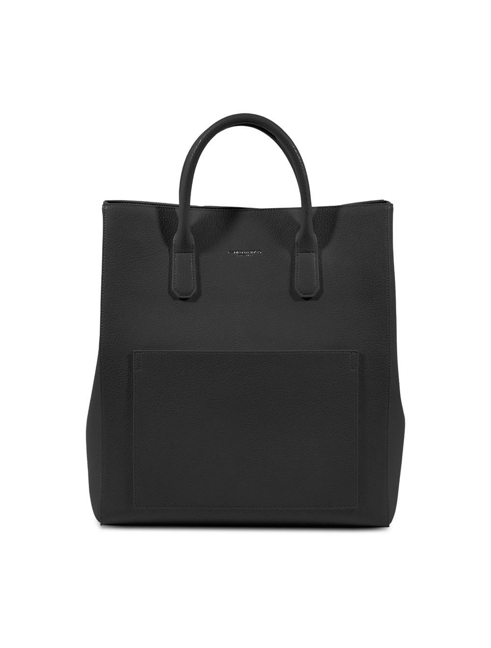Double Handle Document Bag - Black