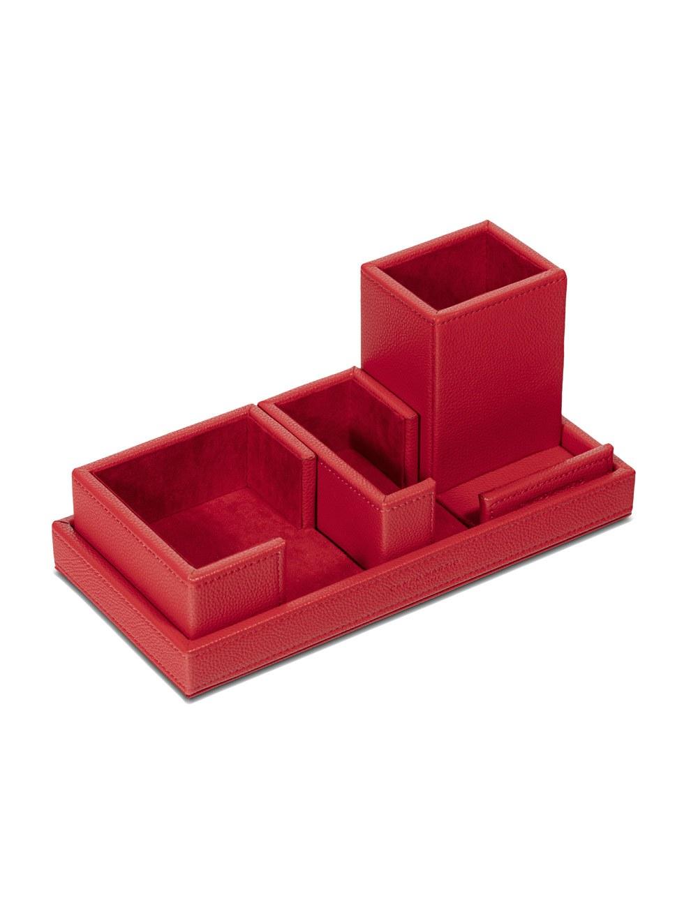 Desk Set Cartesio - Cherry Red