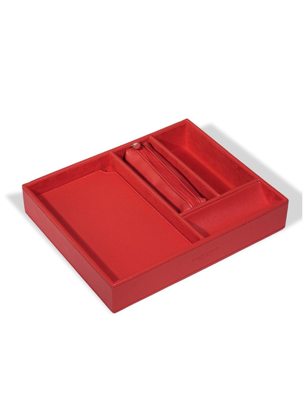 Desk Organiser Voltaire - Cherry Red