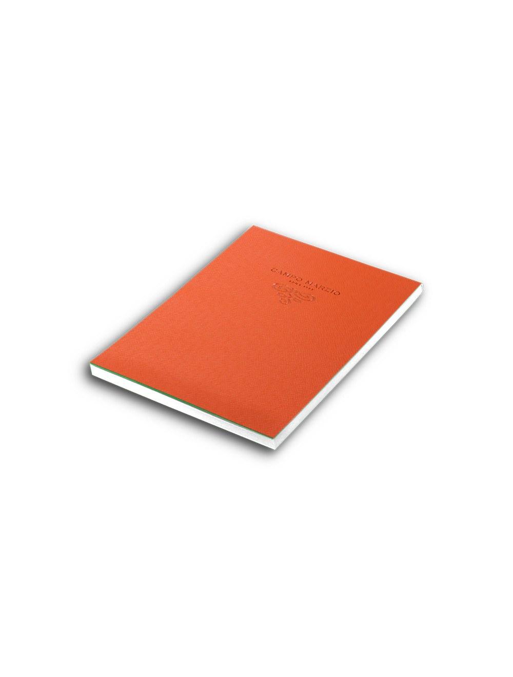 Notes 15 X 21 Cm Saffiano White Page - Mandarin