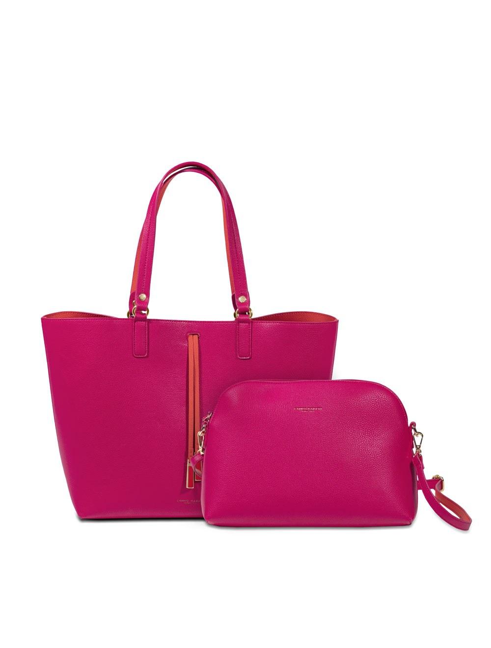 Shopping bag con pochette maxi