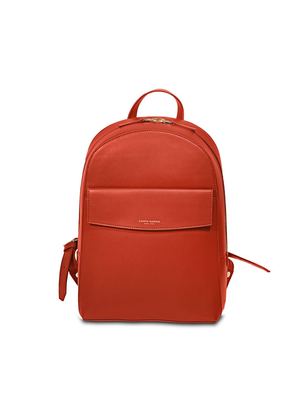 Business Backpack With Front Pocket - Tangerine Tango