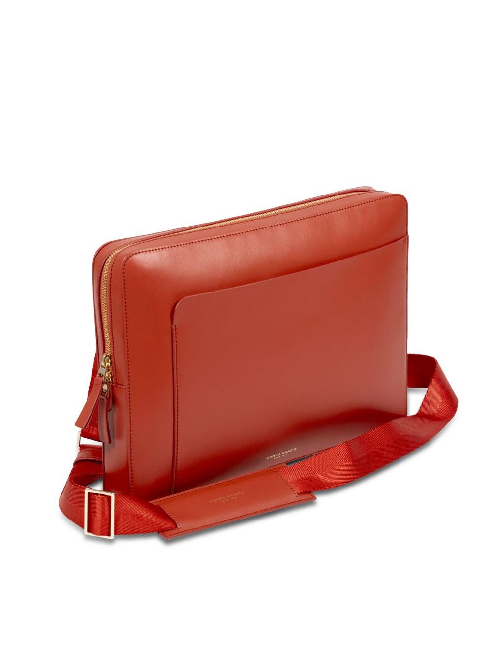 "Laptop Bag 13"" With Crossbody Strap - Tangerine Tango"