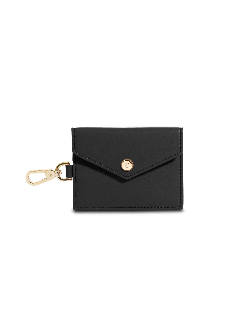 Card Holder With Clip - Black