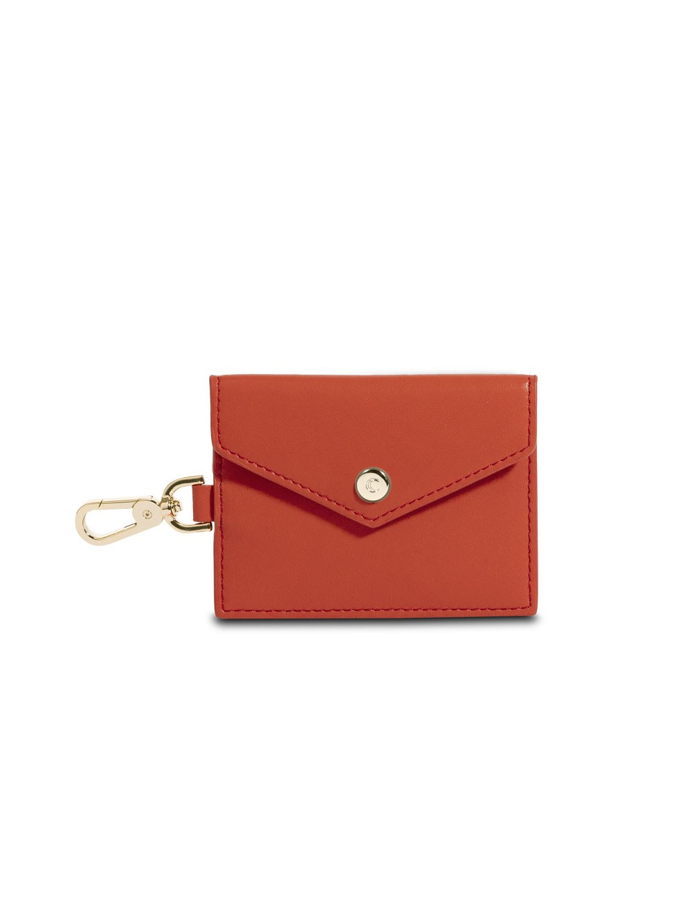 Card Holder With Clip - Tangerine Tango