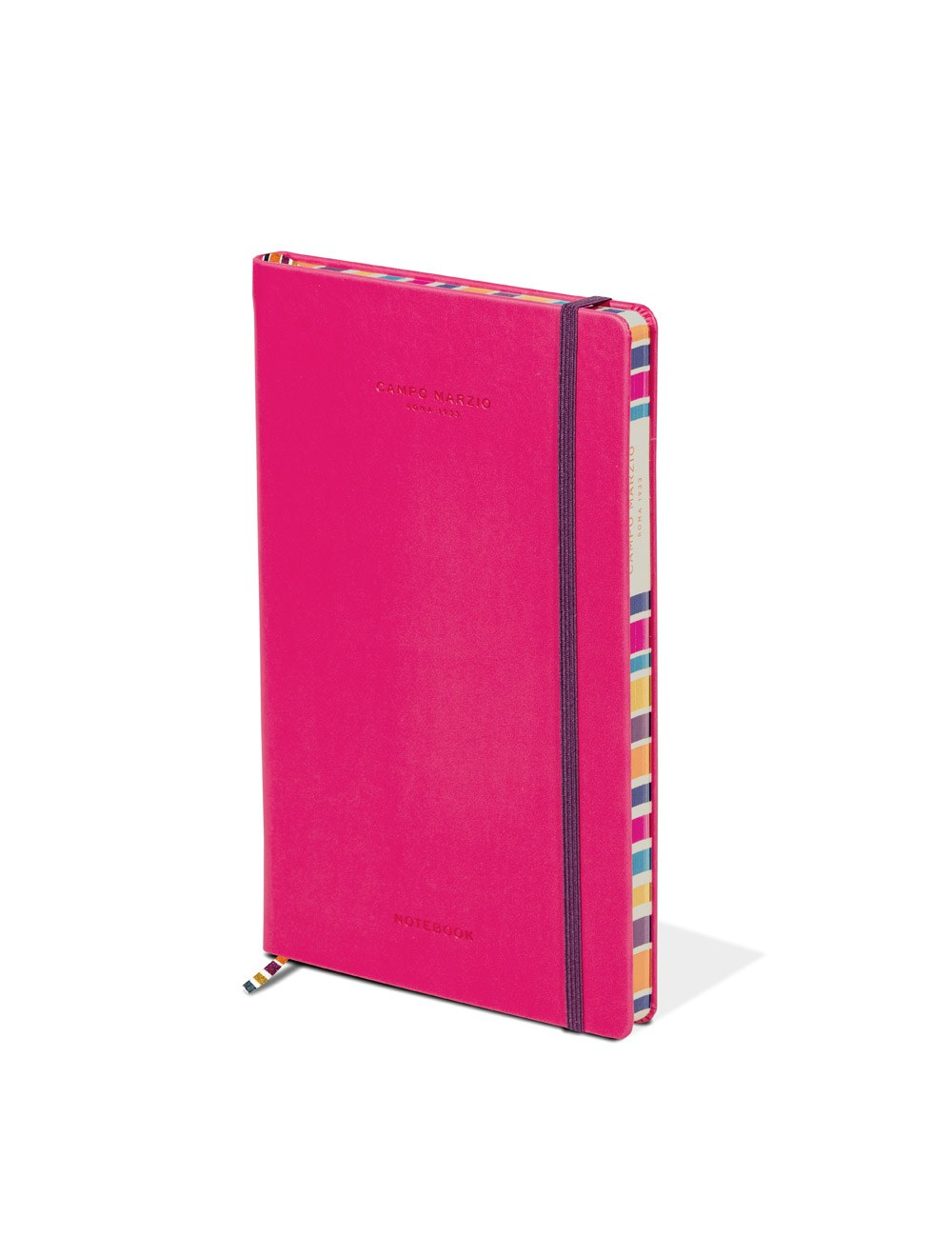 Notes 13x21 Multicolor Edge - Hot Pink