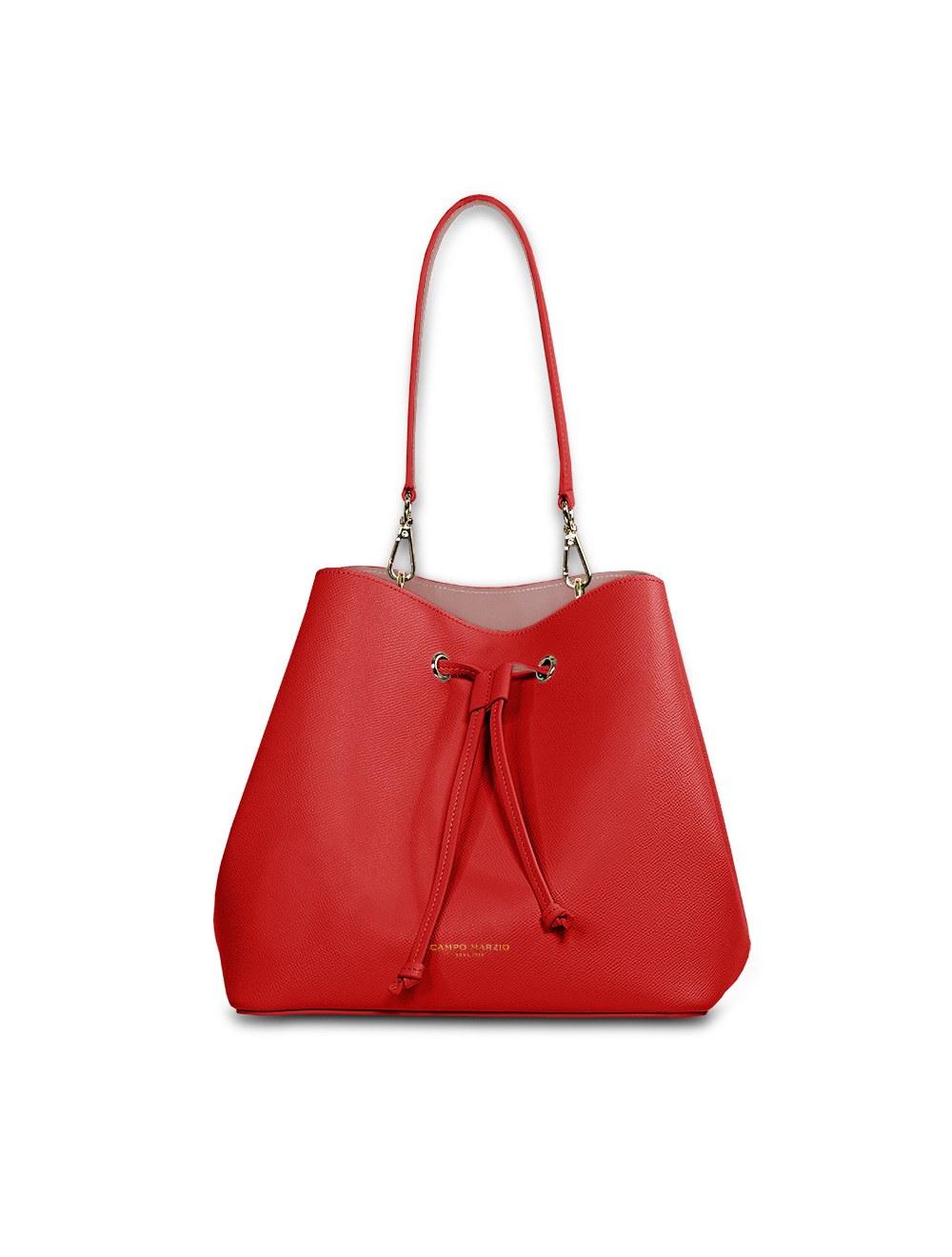 Anita Bucket Bag - Cherry Red / Violet