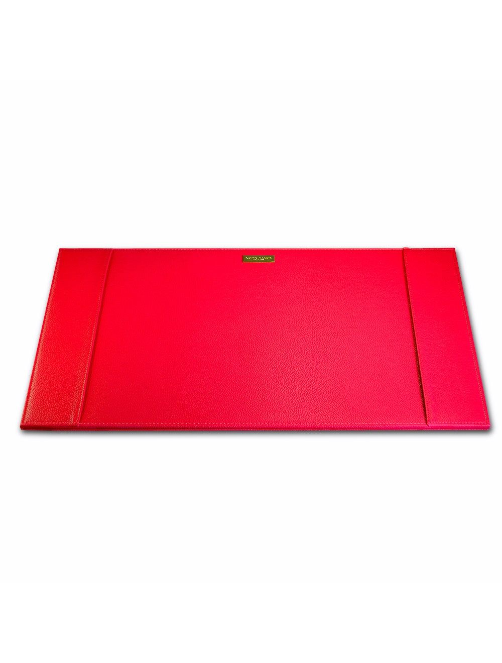 Desk Pad Metal Plate - Cherry Red