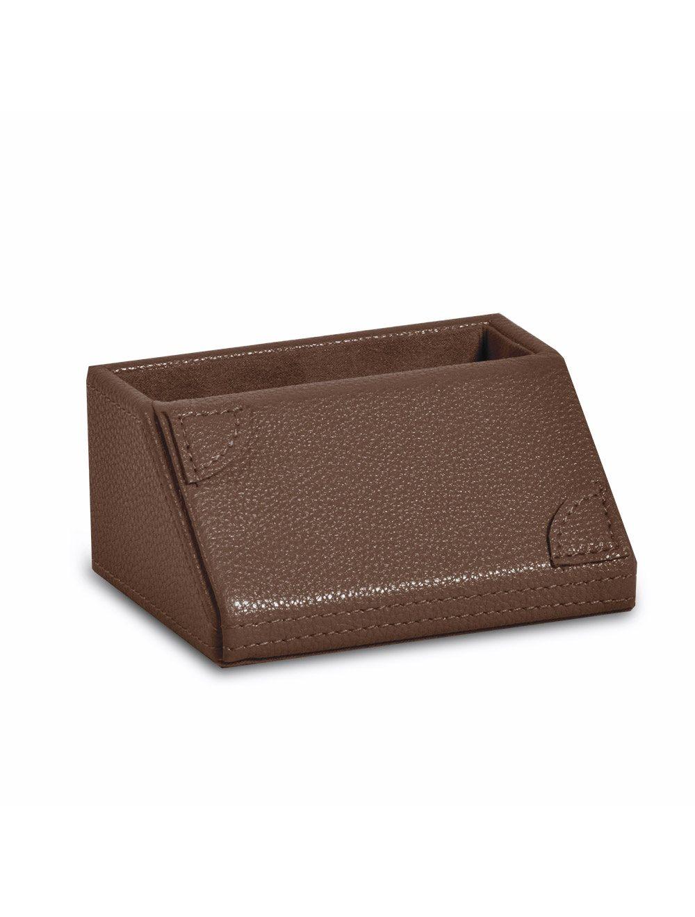New Desk Business Card Holder - Brown