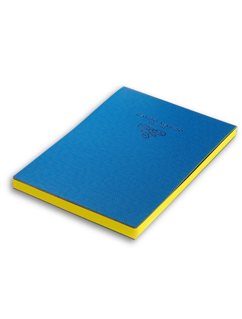 Blocco Notes 15 x 21 cm Saffiano - Blu Oceano