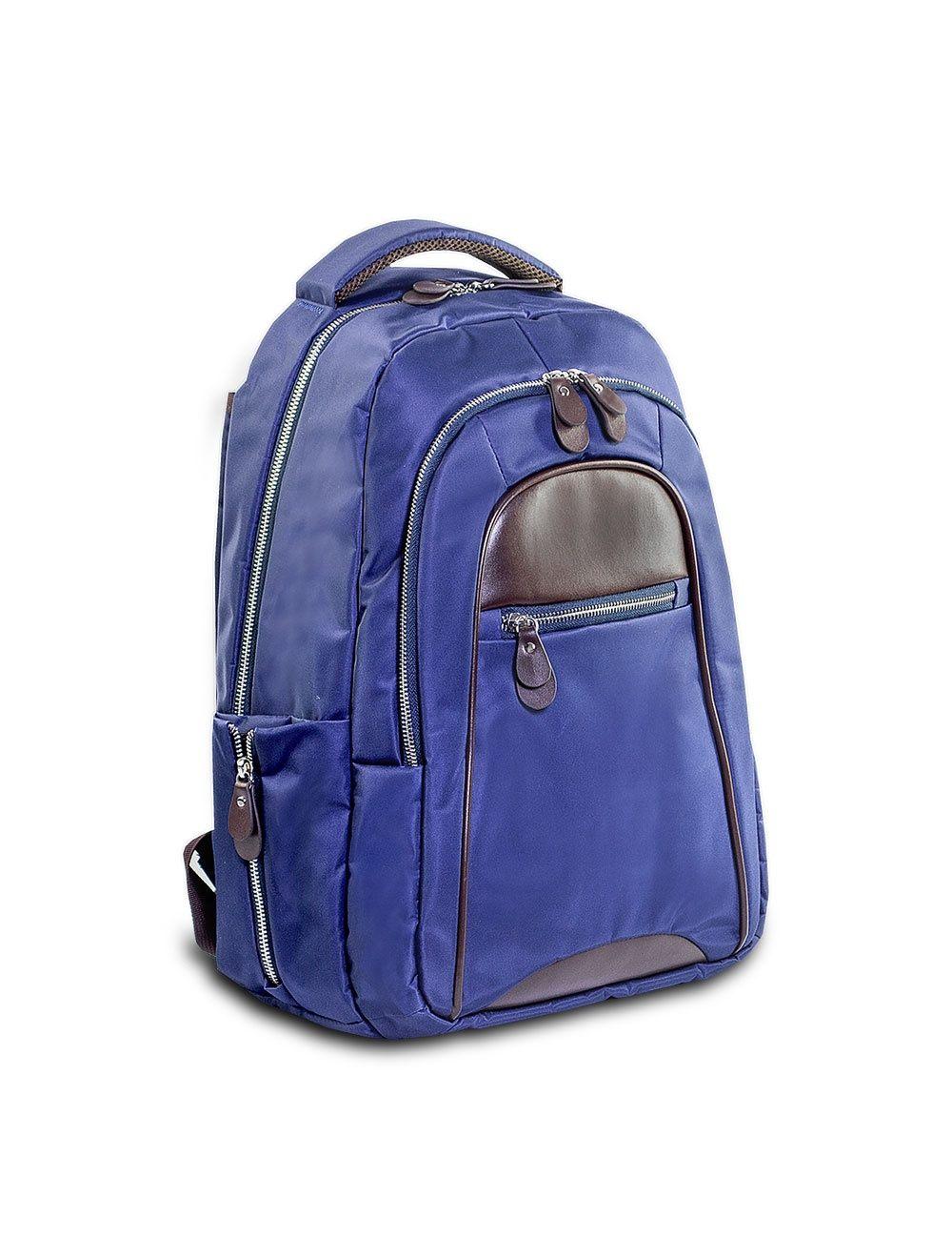 Backpack Nylon/Leather - Ocean Blue
