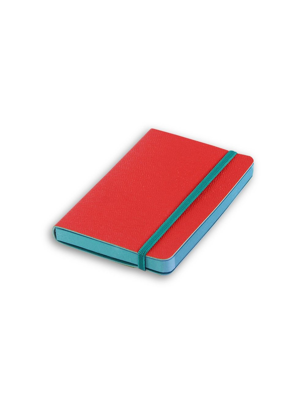 Elastic+ Journal 9 X 14 Cm - Coloured Internal Paper - Cherry Red