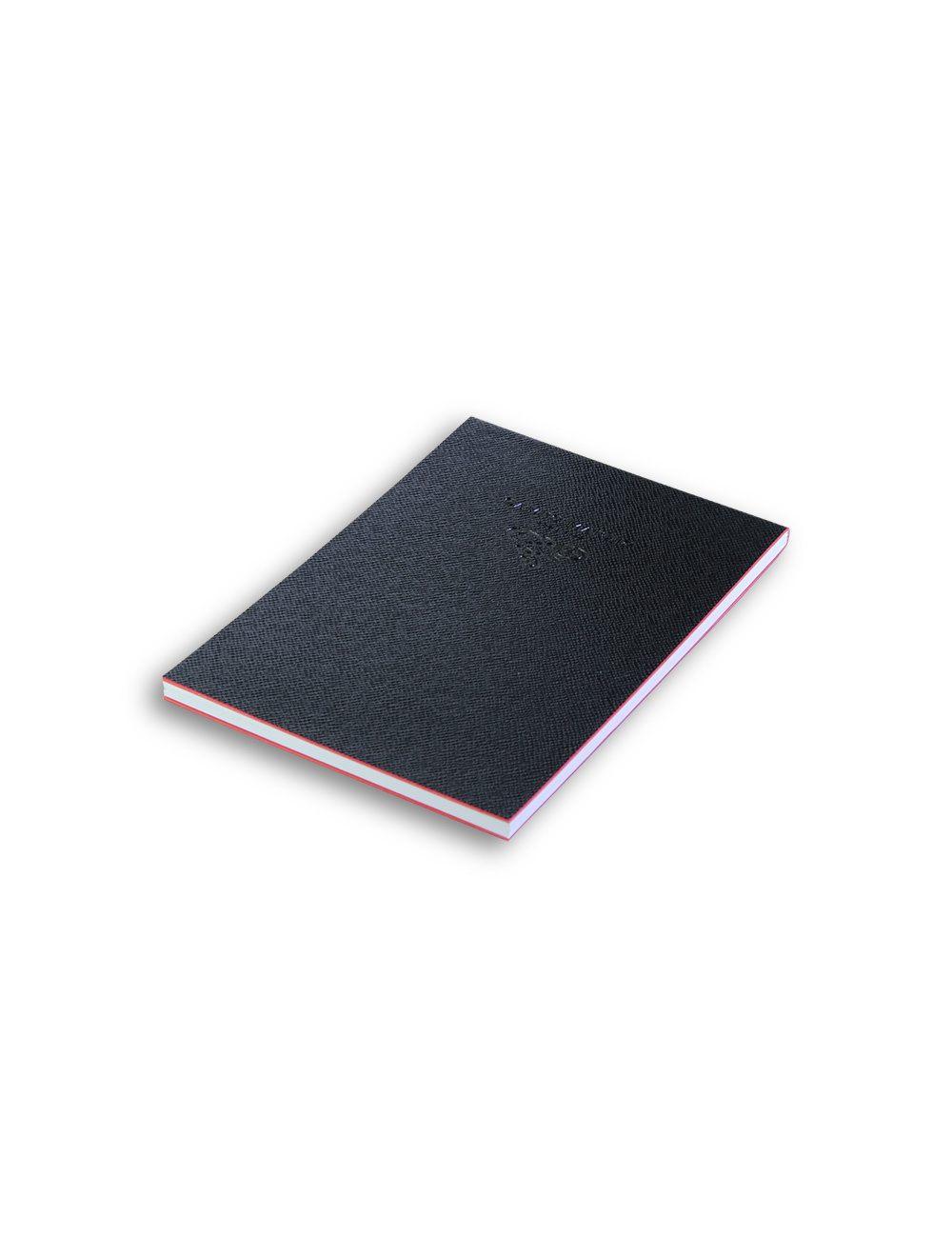 Notes 11x16 cm Saffiano (white internal paper) - Black