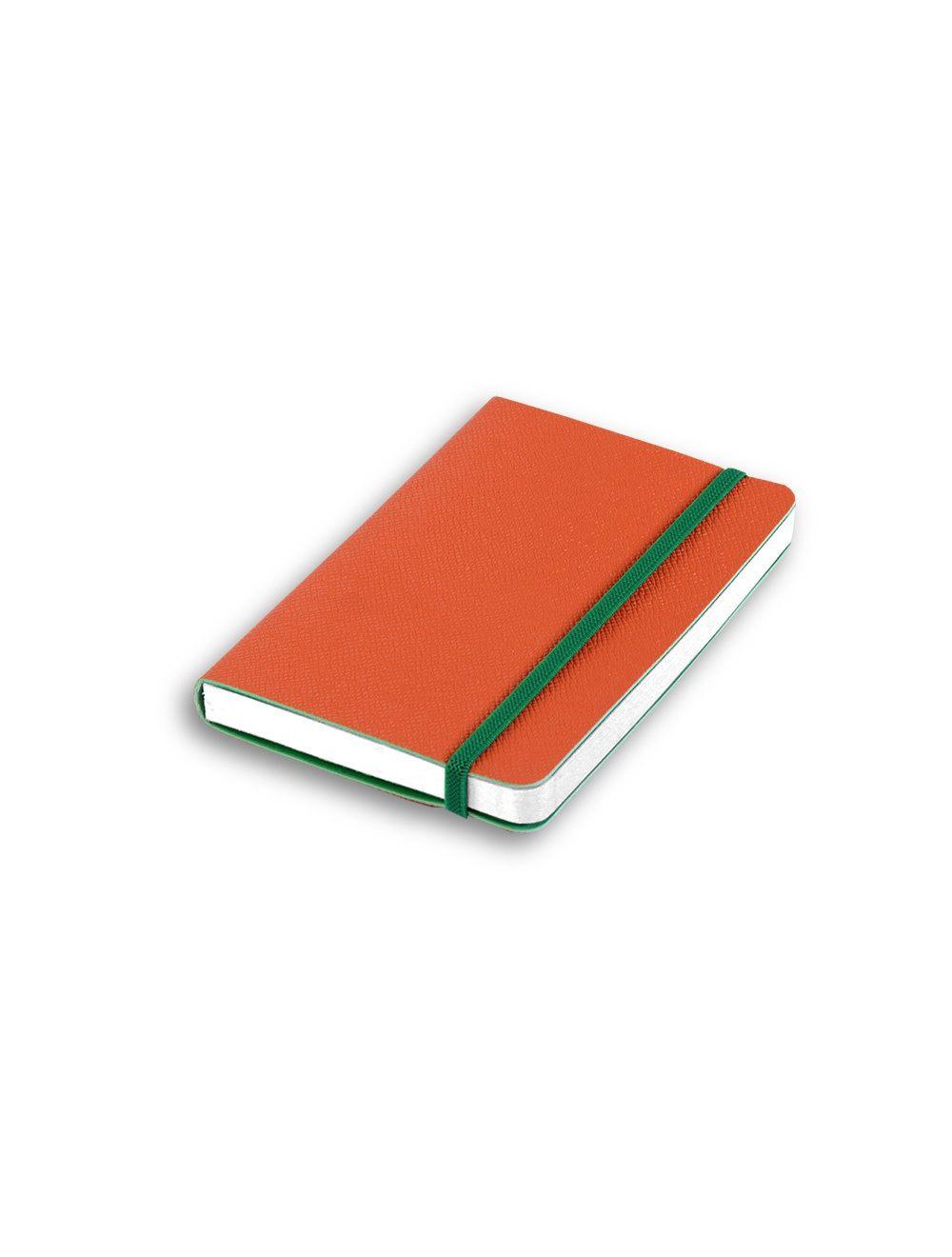 Journal with Elastic 14,5x21 cm (white internal page) - Mandarin