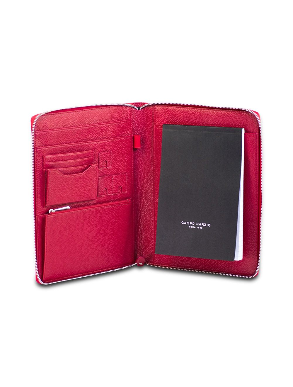 Portfolio Zip A5 - Cherry Red