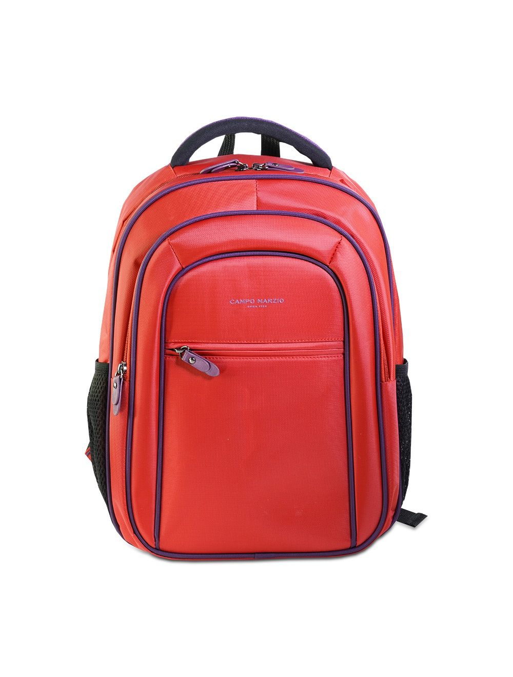 Small Nylon Backpack - Cherry Red