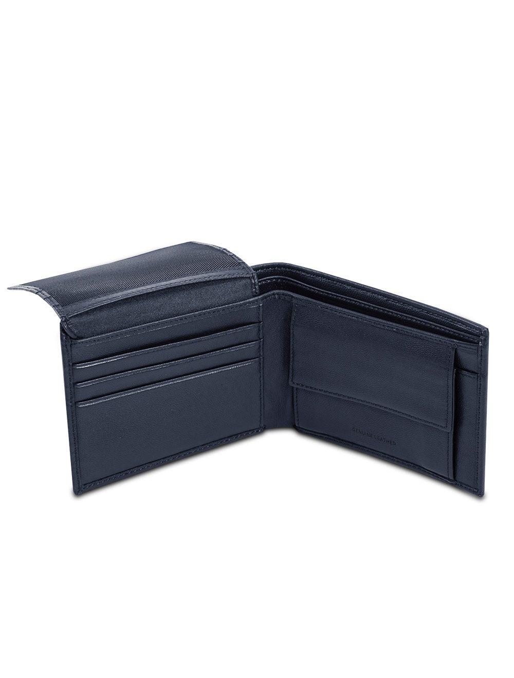 Portafoglio classico con portamonete - Blu Oceano