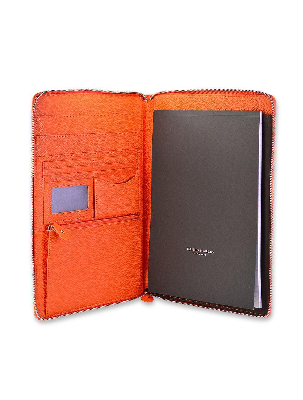 Portfolio Zip A4 - Mandarin