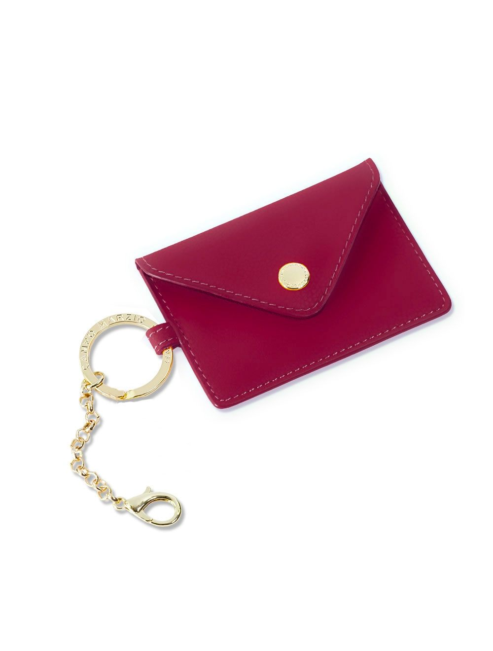 Lev Business Card Holder - Currant Red